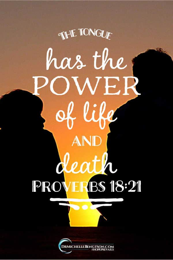 The tongue has the power of life and death Proverbs 18:21 #BibleVerse #scripture
