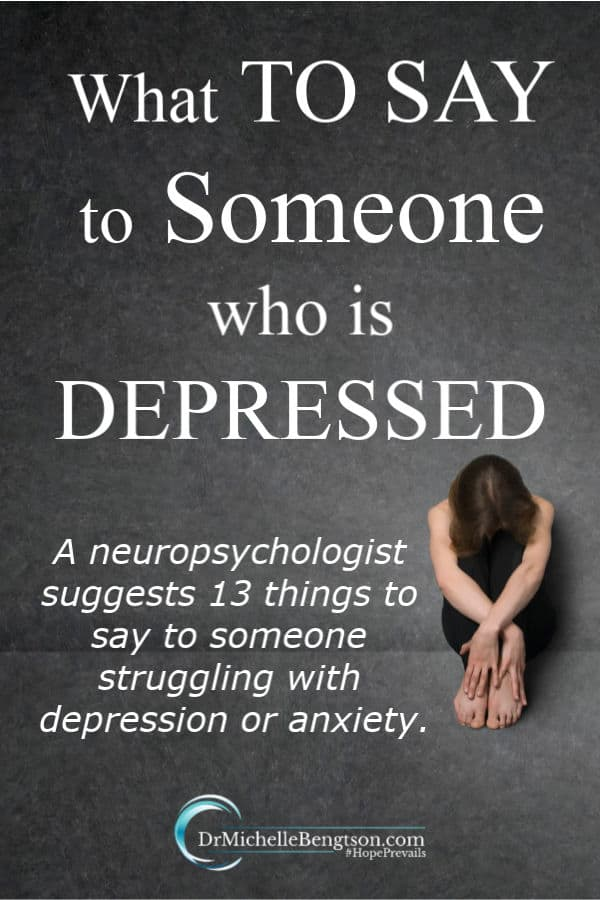 Message for depressed person