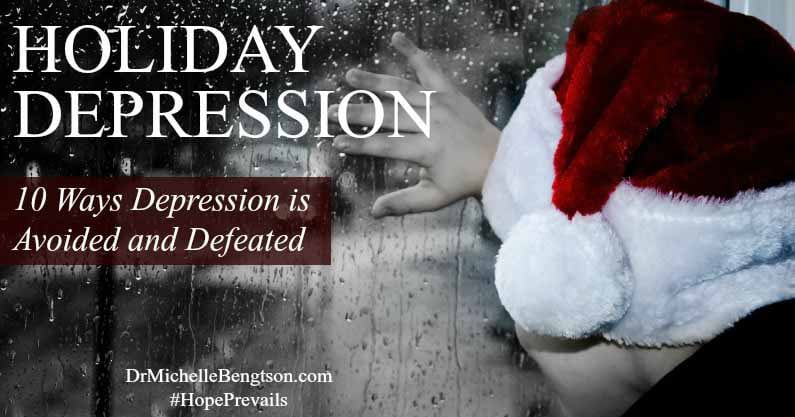 A cloud of darkness hovers over many lives during the holidays: depression. For many, it is the most difficult time of year to live through. Read more for 10 ways depression can be avoided and defeated