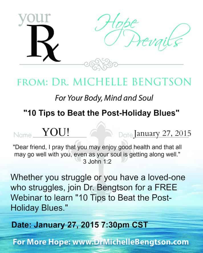 Free Webinar - 10 Tips to Beat the Post-Holiday Blues