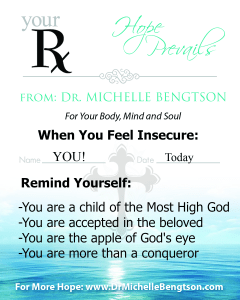 Rx for When You Feel Insecure
