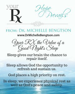 Your RX the Value of a Good Night's Sleep
