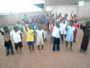 The precious Ugandan children who worshipped God in song prior to my teaching.