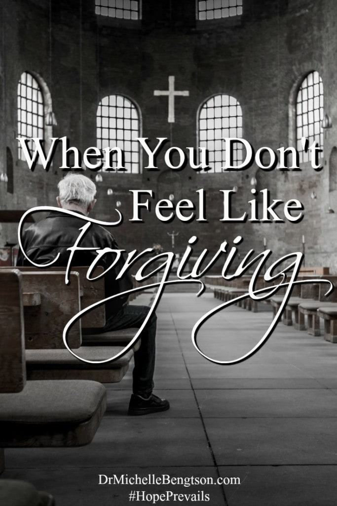 "When You Don't Feel Like Forgiving. Forgiveness is not about forgetting. It's about saying to God, ""I give them and the situation to You because I know You can handle it better than I can."""