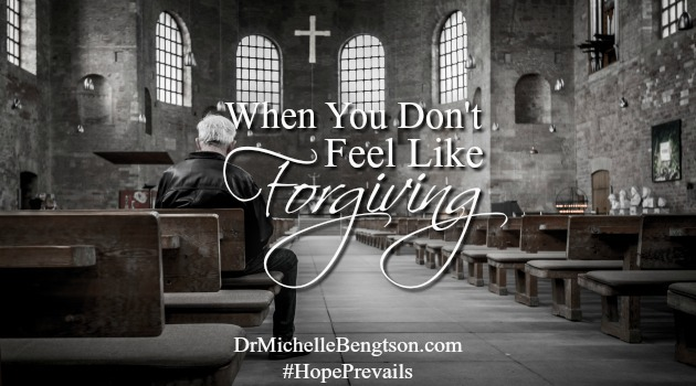 """When You Don't Feel Like Forgiving. Forgiveness is not about forgetting. It's about saying to God, """"I give them and the situation to You because I know You can handle it better than I can."""""""