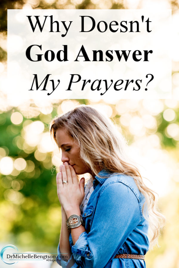 Why doesn't God answer my prayers? This frustrating question is one we've all asked at some point. But, what if God is answering, just in a different way or a different timeframe than we expect? Read more for ways God answers prayer. #prayer #God #faith