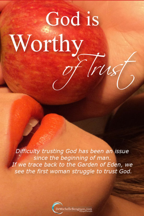 Do you ever struggle to trust God? The first woman was the mother of all humanity, a friend of God who walked and talked with Him daily in the garden. Her every need was supplied for and yet she didn't fully trust Him. Read more for trusting God completely. #trust #God #faith #hope