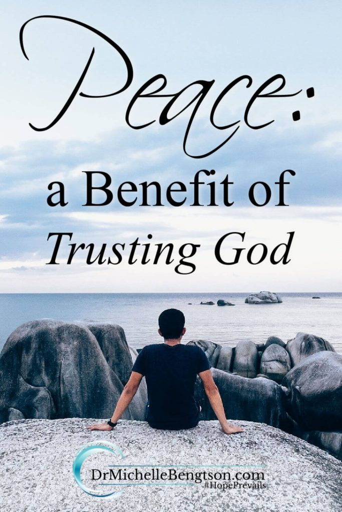 Have you ever longed for peace? I have. I just didn't know that peace was a benefit of trusting God. For many years, I was hard-pressed to tell you what peace was or how to obtain it. All that changed when I took a liking to the book of Isaiah and discovered the pathway to peace. #peace #Bible #trustGod #faith #hope