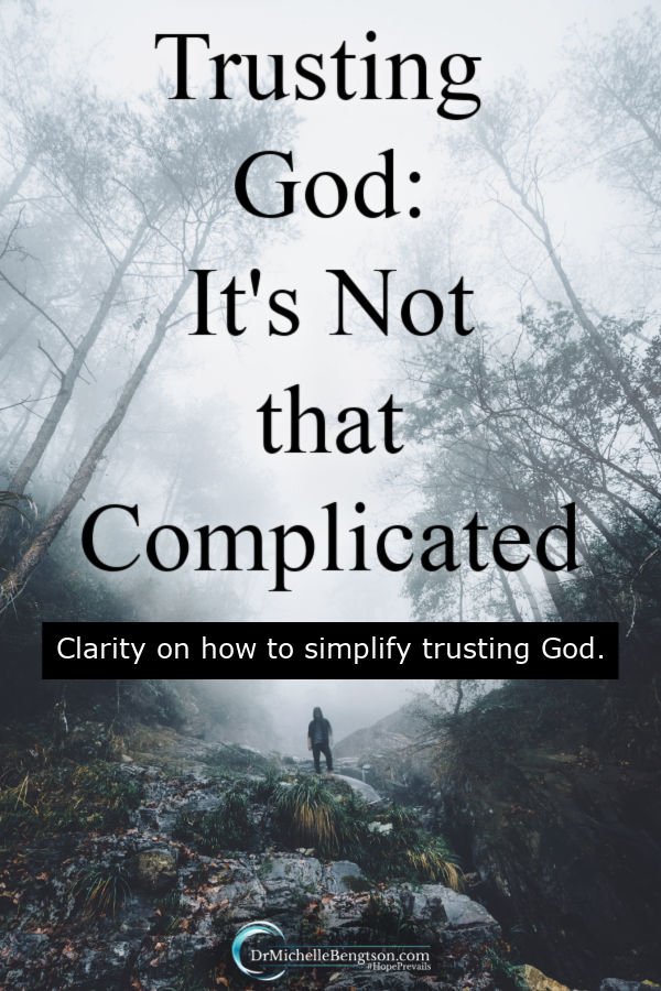 During the difficult trials, my trust muscle often seems weak. Sometimes, we make situations more complicated than they really are. One morning, I gained clarity on why it's not complicated to trust God more. #trustGod #faith #God