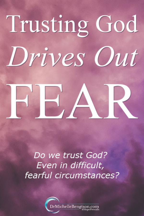 Do we trust God? Even in difficult, fearful circumstances when we don't understand why they're happening? Read more for how we pursue His perfect love that drives out fear. #trustingGod #faith #fear #overcomingfear