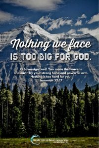 God is sovereign. Nothing we face is too big for God. Jeremiah 32:17 Read more for 5 essential elements I've learned by intentionally learning to #trustGod more.