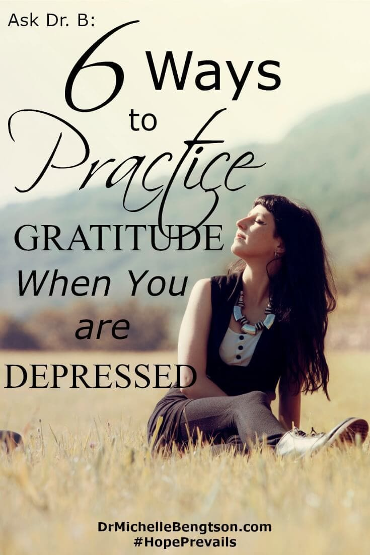 It's hard to be thankful when you're depressed. It's hard to do anything when you're depressed. More often than not, we tend to focus on the negative. An attitude of gratitude takes your mind off your suffering. Try these 6 ways to practice gratitude when depressed.