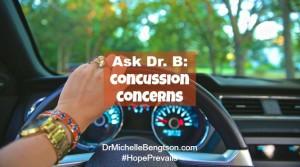Ask Dr. B Concussion Concerns by Dr. Michelle Bengtson