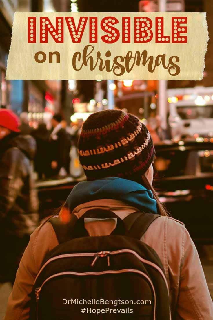Have you ever been in a crowd, yet felt very much alone? Like you were invisible? How many celebrate the Christmas holiday but forget the reason we celebrate.