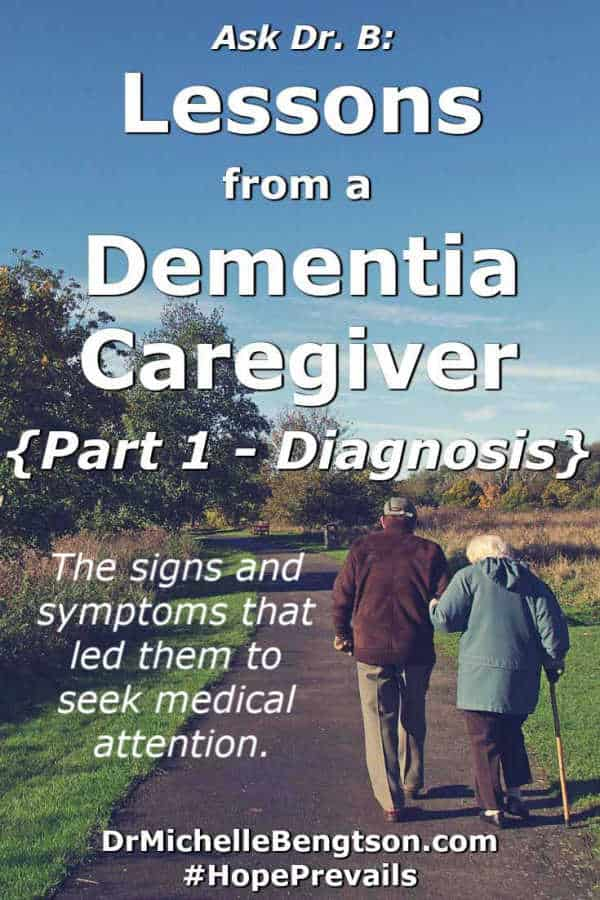 Is it dementia? Many people wonder how to know when to get help? Or how to know if this is just normal aging vs something more serious? In part 1 of a 5 part series, a caregiver who's wife experienced dementia shares the signs and symptoms that led them to seek help. #mentalhealth