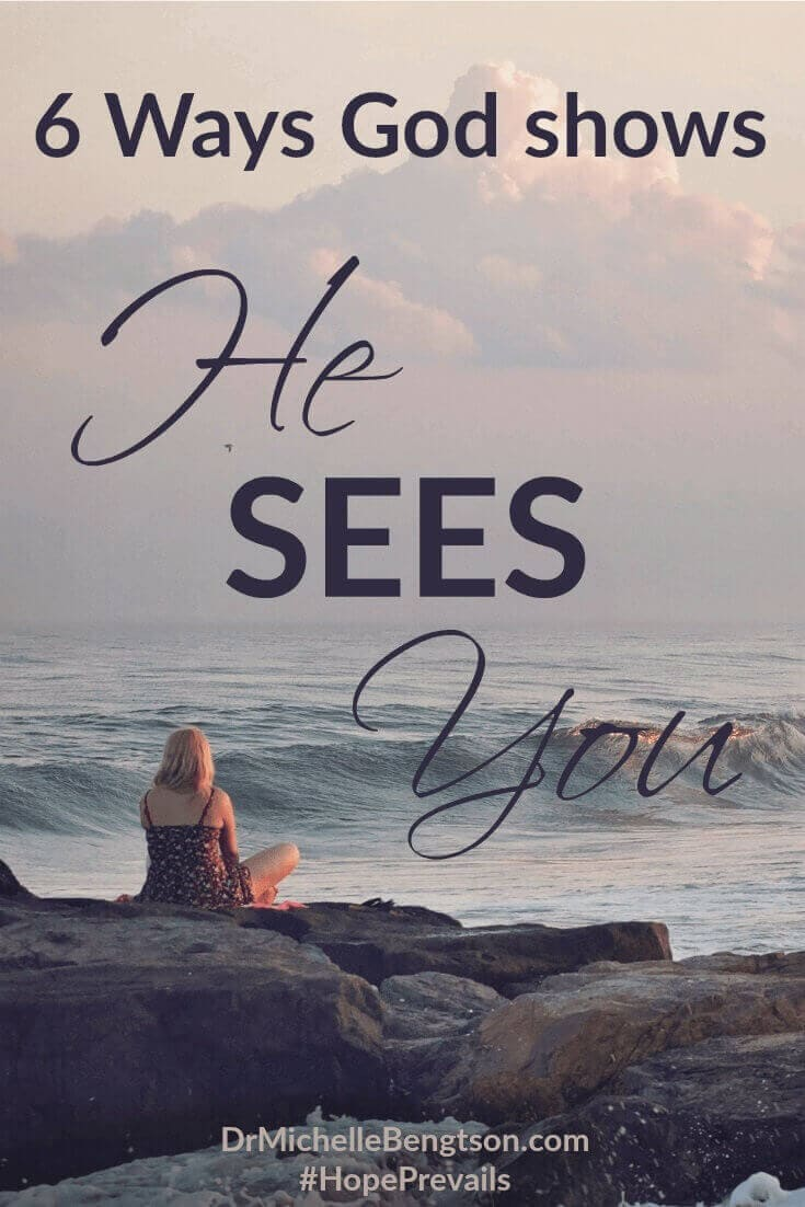 What circumstances are you facing today? Let me encourage you. God sees YOU. He hasn't left you. He knows right where you are, and He's there with you, loving you and providing for you. Read more for 6 ways God shows He Sees You.