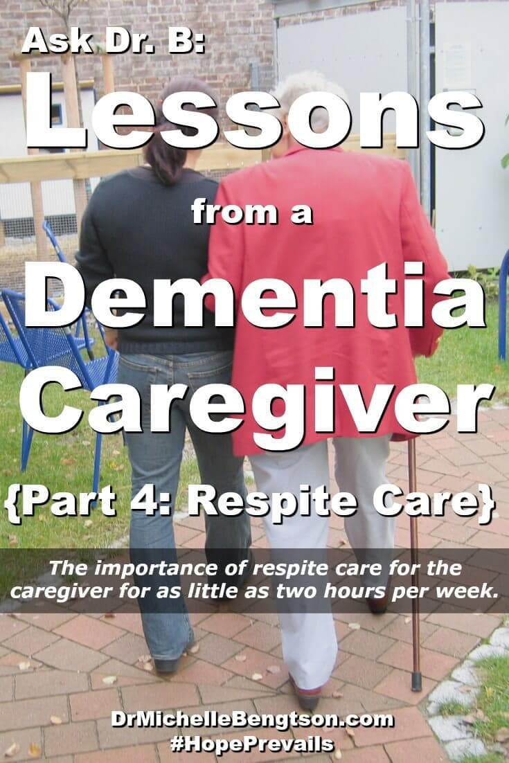 A caregiver who's wife experienced dementia shares the importance of respite care for the dementia patient as well as caregiver support and respite care for the caregiver to prevent burnout. #mentalhealth