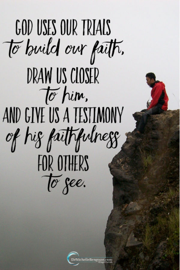 God doesn't inflict pain on His children to hurt us. But He can use our trials to build our faith, draw us closer to Him, and give us a testimony of His faithfulness for others to see. Those same trials can make you desperate. In my trial, God was faithful to remind me of four truths. #faith #trustingGod #depression #mentalhealth