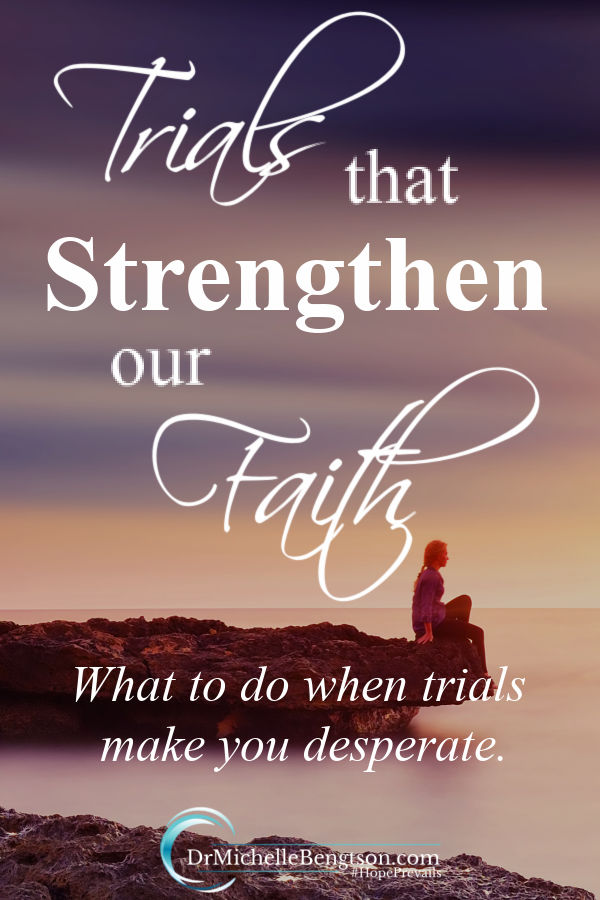 In my darkest times, desperation drew me closer to God and made me willing. Suffering through trials strengthened my faith and gave me a richer testimony of God's faithfulness. Read more for what to do when trials make you desperate. #faith #testimony #overcome #depression #mentalhealth