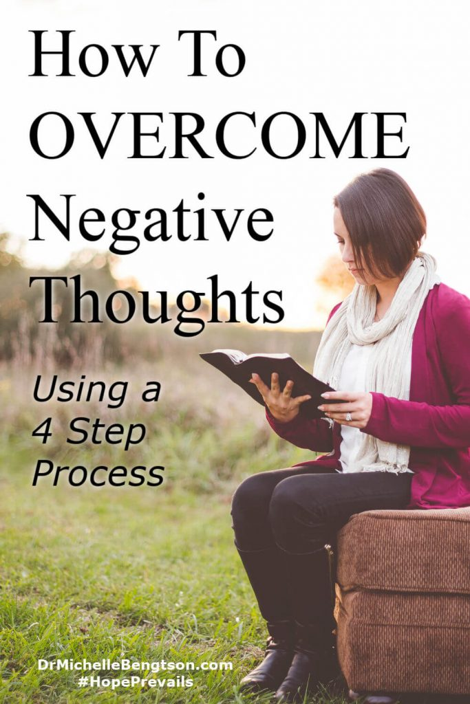 Have you ever wondered how to combat negative thoughts and overcome negativity in general by using truths from the Bible? Read more practical applications for how to put that into practice. #negativethinking #negativity #mentalhealth #Bible #faith #hope