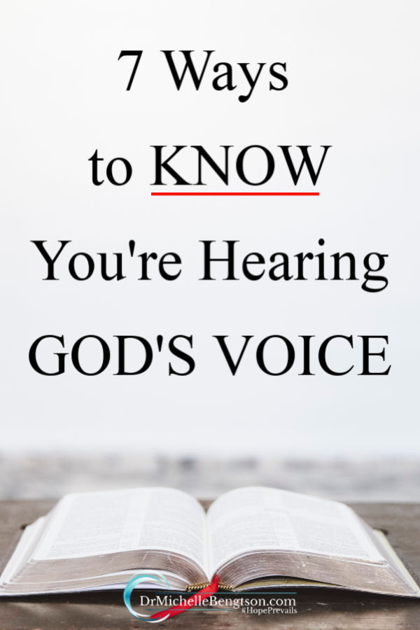 To know if you are hearing God's voice or the enemy's, you need to learn what each voice sounds like. These 7 practical tips will help you learn to distinguish God's voice from the enemy's. Click through to the post for more practical help on how to hear God's voice. #God #faith