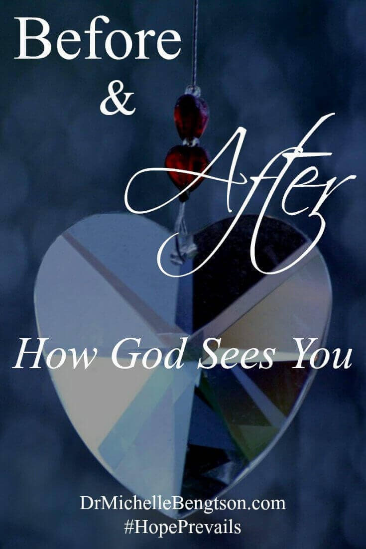 """The thief comes to steal, kill and destroy, but Jesus came to give life and give it abundantly. Jesus came to turn all of our messy, broken """"befores"""" into glorious, beautiful, forgiven, redeemed """"afters."""" Once we realize what the enemy attempted to do """"before,"""" we can live in the truth """"after."""""""