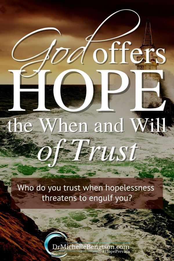 When times are hard and no answers are ready, we are given the opportunity to grow our faith and become more like Jesus by trusting God to manage our trial. He warns us in His word that we will go through hard times. God offers us hope in that when the difficulties come, He will be with us.