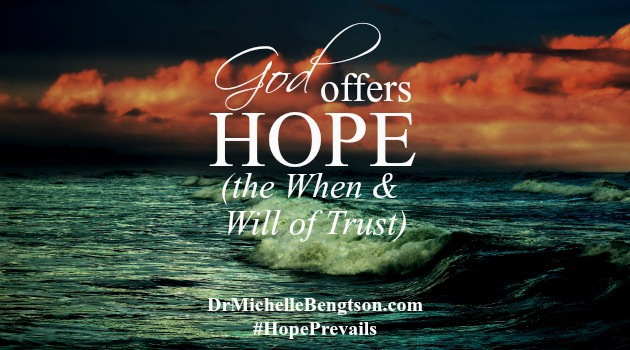 When and Will are two sure words that both signify and necessitate trust. They leave no room for doubt or debate. God clearly warns through His word that we will go through difficulties. WHEN that happens, He WILL be with us.