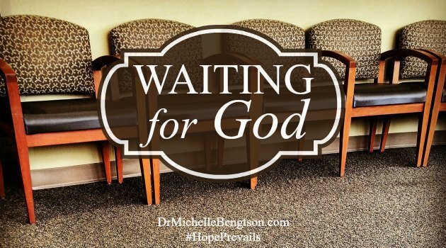 Have you ever been in God's waiting room? Waiting for an answer to come, for pain to end or for a door to open? Waiting is never easy. When we keep our trust in God and remember He is always faithful, the waiting is not as hard.
