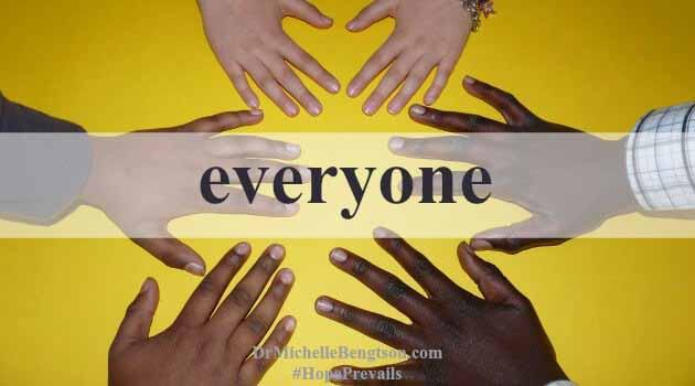 God loves everyone. He sent His son to die for EVERYONE. God doesn't see our skin color, our gender, our height, OR our sin. He sees us in His image, through the righteousness of Jesus.