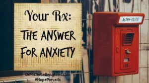 I didn't recognize it for what it was until I was weighted down under the cascade—the waterfall of anxiety. Anxiety often starts small and hardly noticeable & over time grows to troublesome proportions. What is the answer to our anxiety?