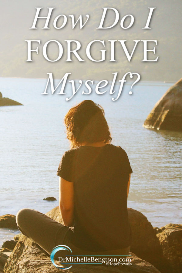 "Guilt. Agony. Shame. Embarrassment. Those are just a few of the feelings we can carry in our hearts from mistakes we've made in life. That's not how God wants us to feel. Have you ever made a mistake and wondered, ""How do I forgive myself?"" #forgiveness #mentalhealth"