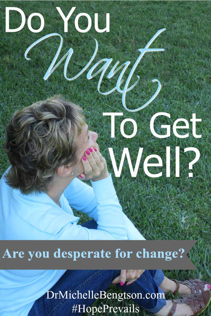 Do you want to get well? Are you willing to do the work it takes? God will use painful times to draw us closer to Him. He will use pain and trials to make us desperate to do the hard work required to get well. Do you want to get well?