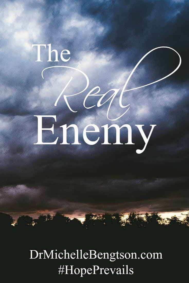 The enemy is not your spouse or your children. Recognize who the real enemy is. He's alive and wants to tear down the unity in families who are struggling with hard times. Read more about recognizing the enemy and holding on to each other and the promises of God.