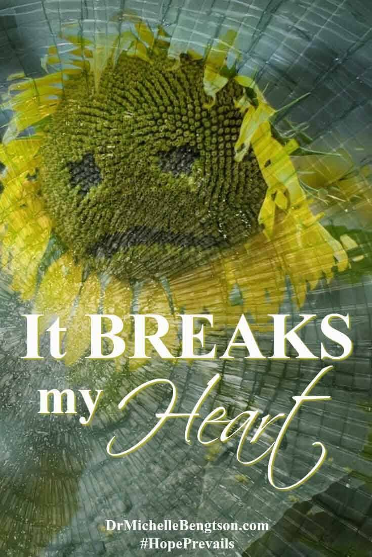 It breaks my heart, day after day, when I hear of the pain born by each one who walks through my doors in search of answers. My prayer for each is similar. Lord, break my heart for what breaks yours.
