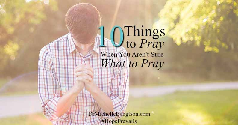 A reader on Ask Dr. B wonders, What do you do when you want to pray, you just don't know what to pray? Dr. B shares 10 places to start. Read more.