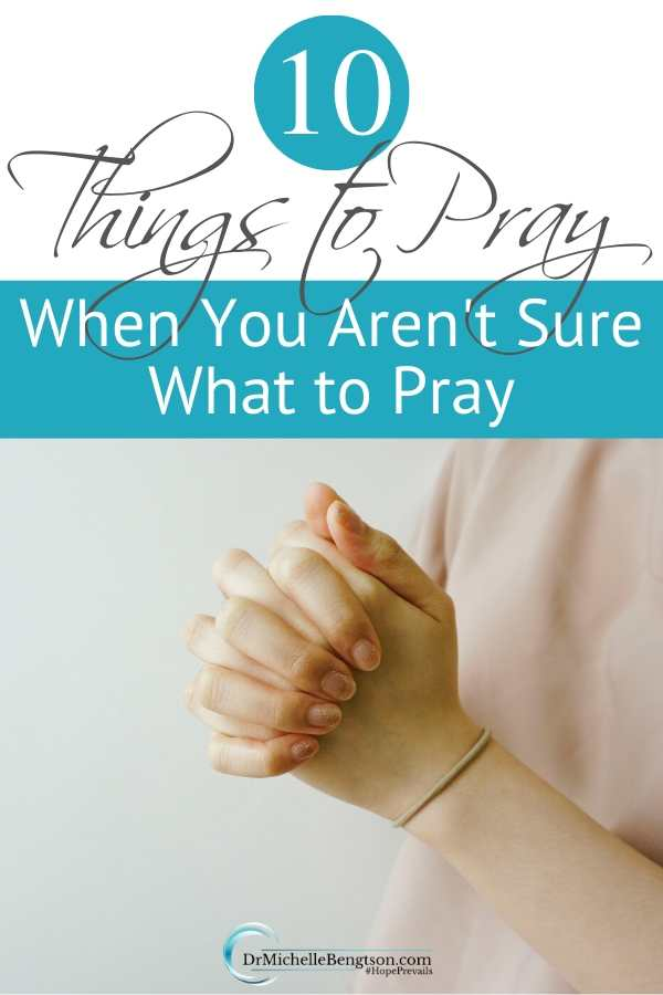 Have you ever wanted to pray but you were at a loss for words? I've been there. At times, you just need some inspiration. These 10 things to pray when you aren't sure what to pray are a good starting point. Once you start to pray, God will bring other things to mind. #God #prayer #prayerpoints