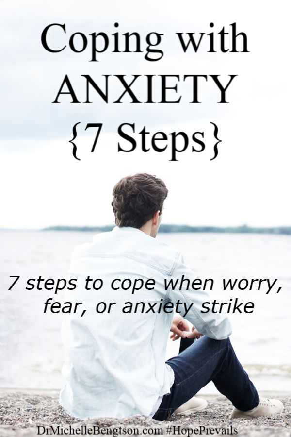 How do you cope with anxiety, fear and worry? Use these 7 steps and Bible Verses to live in the victory - power, love and sound mind - that God promised in His word. #anxiety  #fear #worry  #faith #Bible
