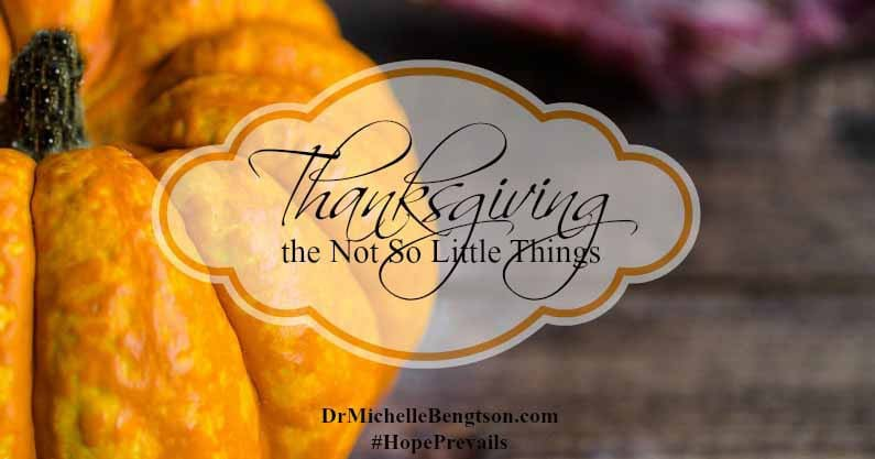 Thanksgiving: The Not So Little Things