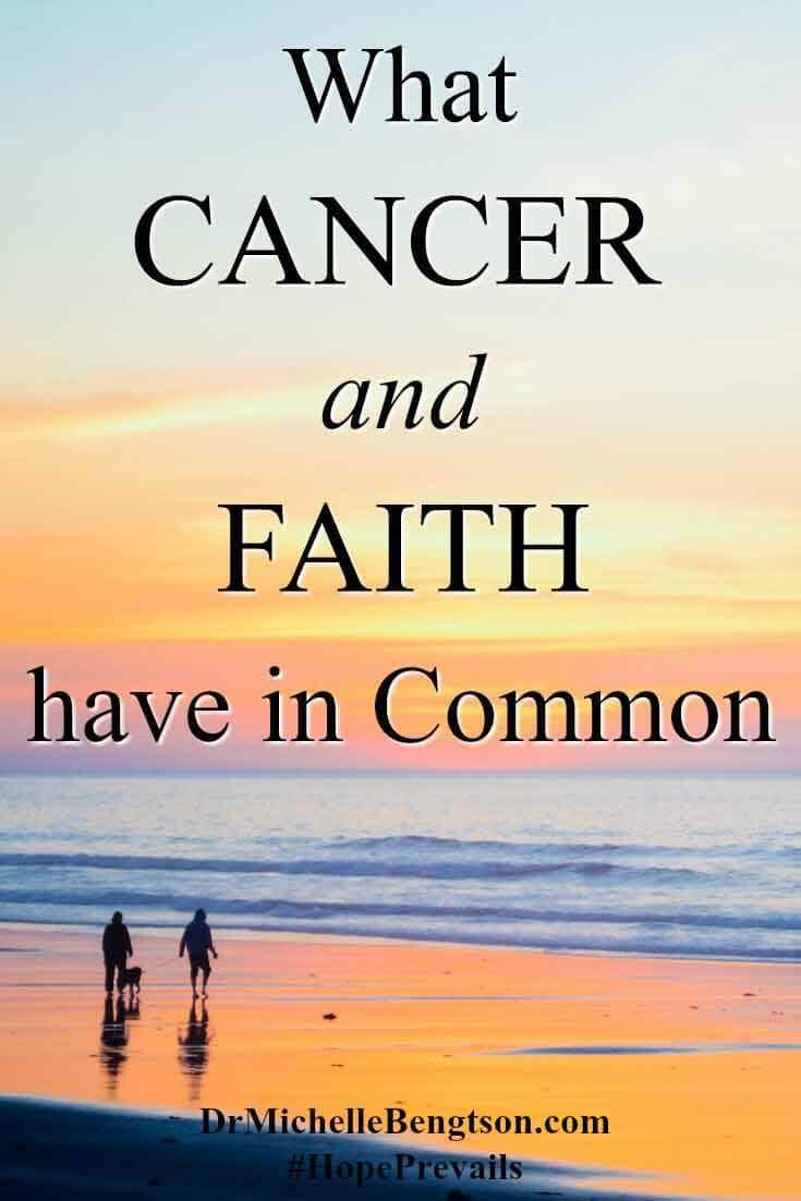 Cancer. Faith. Neither exist in isolation. Each have the potential to positively or negatively influence others. How will you use your influence?