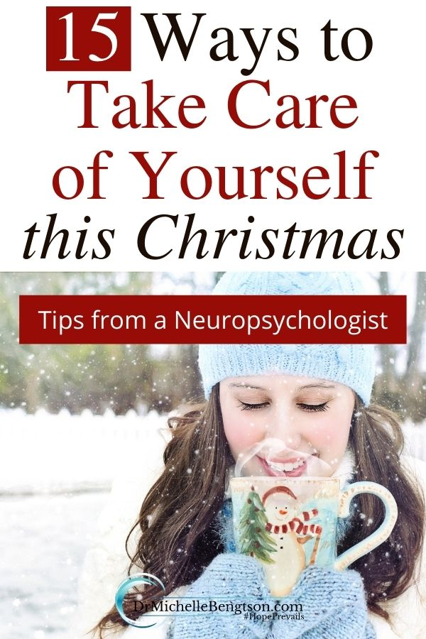 When you're giving out gifts to others, give a few gifts to yourself as well. Give yourself a gift of love by following these 15 self-care tips at Christmas so you can keep the peace and joy God offers. #Christmas #selfcare #peace #stressless