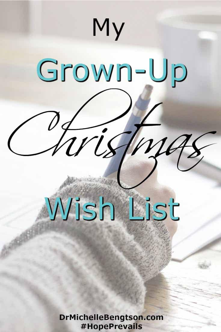 The Lord offers us a safe place to come and share our inner most desires. He wants to hear! He instructs us to tell Him what we need. Our grown-up Christmas wish list.