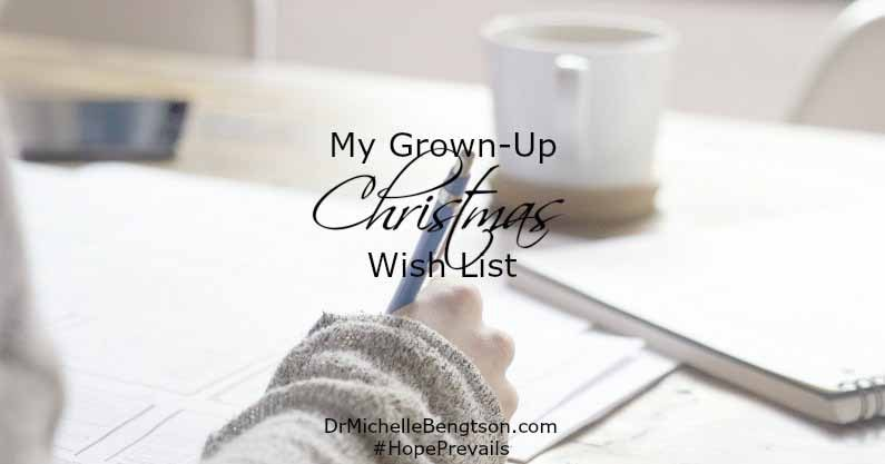 In Philippians 4:6-7, the Lord tells us not to worry but also says we should tell Him what we need. Our grown-up Christmas wish list.