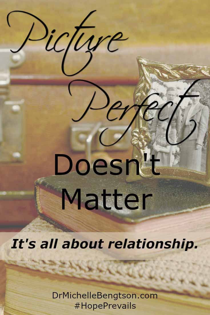 Are you struggling to create the picture perfect Christmas and feeling woefully inadequate? It's okay. It's all about relationship. Ours with the Father and with each other. Picture perfect doesn't matter.