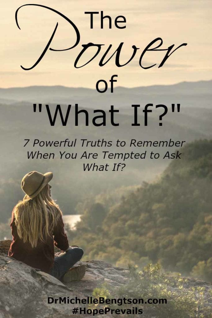 """What if? are two words the enemy of our soul uses against us to incite fear, worry and anxiety. How can we let go of the anxiety-producing """"What ifs?"""" and take hold of the peace that prevails because of Him."""