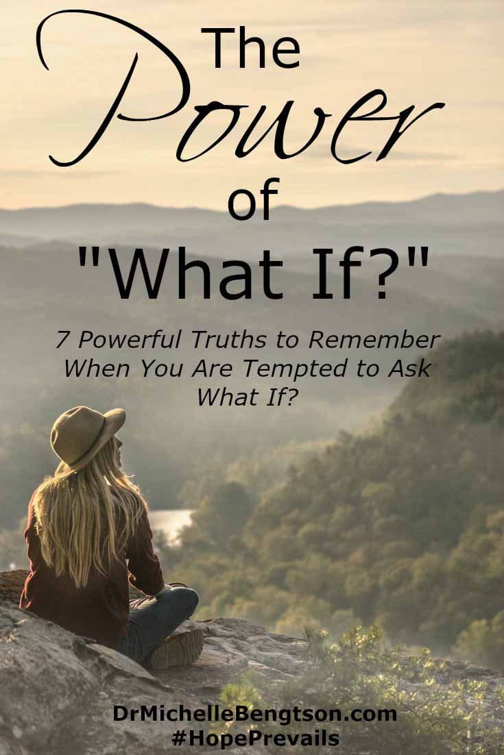 "What if? are two words the enemy of our soul uses against us to incite fear, worry and anxiety. How can we let go of the anxiety-producing ""What ifs?"" and take hold of the peace that prevails because of Him."