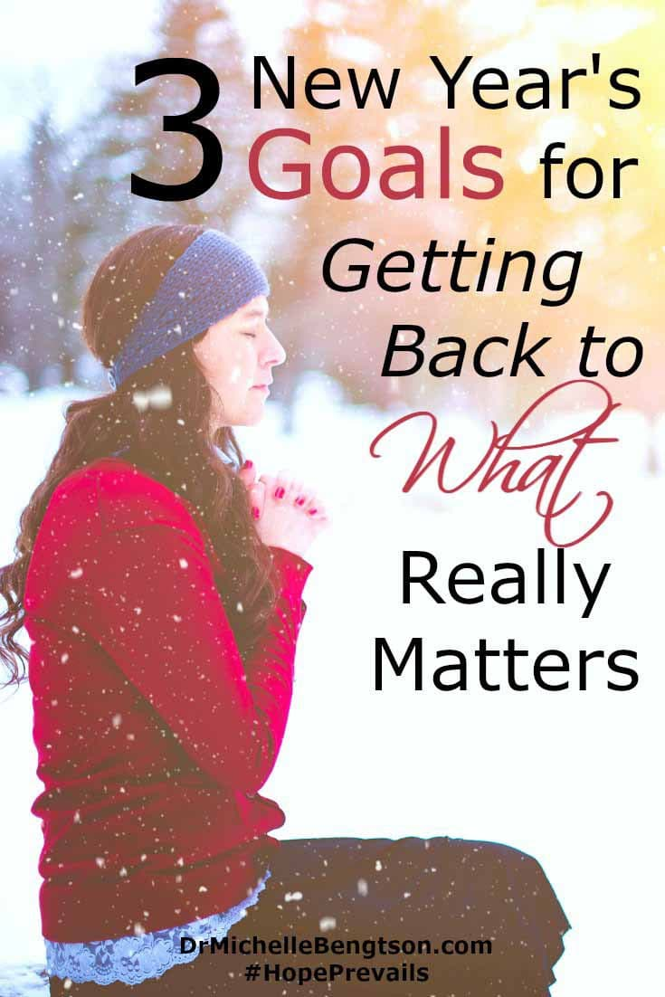 When you go through difficult times, voices and advice clamor for your attention on every side. Difficult times reminded me of what I truly value in life. What I want to return my focus to in the coming year. My three New Year's goals for getting back to what really matters.