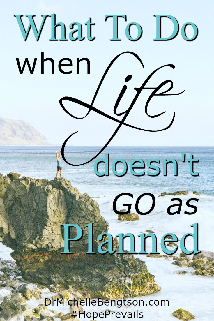 What do you do when life doesn't go as planned? When the diagnosis isn't what we wanted? Or, the pain and heartache seem too much to bear? Read more for the first and best option of what to do when life doesn't go as planned.