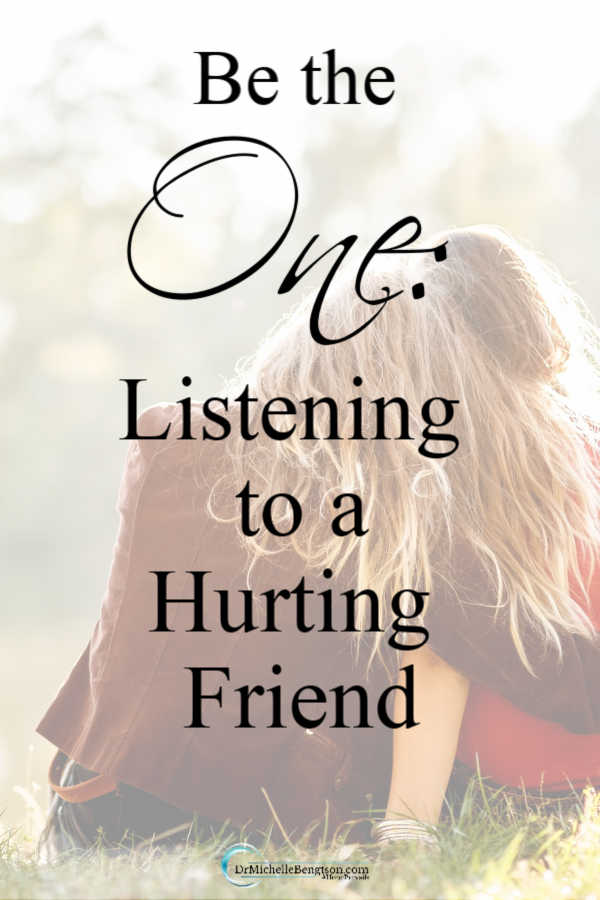 Will you be the one who listens to a hurting friend? Sometimes, God intersects our paths with others for a greater purpose. Read more for what to do to show you care when friends are hurting. #listening #encouragement #loneliness
