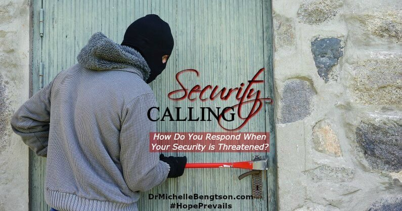 In difficult times, when security comes calling, how will you respond? Despite your circumstances, will you cling to the peace afforded by Jesus or will you give up?